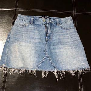 Hollister mid rise jean skirt